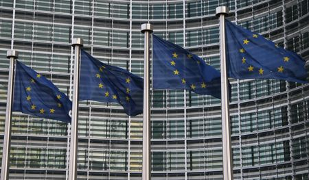 bruxelles: European flags in Brussels