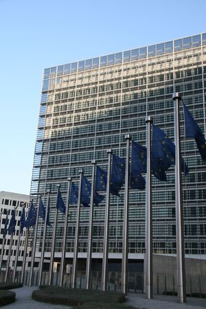 European Commission building Berlaymont in Brussels, Belgium photo
