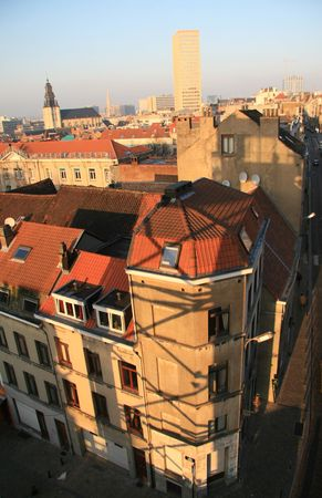 View on Brussels houses  Stock Photo - 2272237