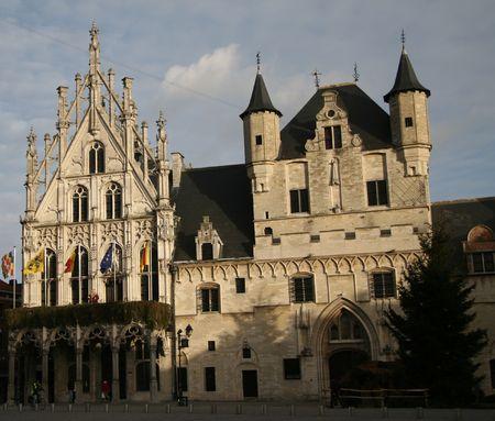flanders: Town Hall of Mechelen in Flanders, Belgium Stock Photo