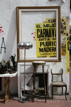Antique market in San Telmo Buenos Aires. photo