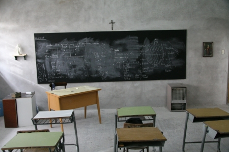 Classroom in catholic school in Argentina