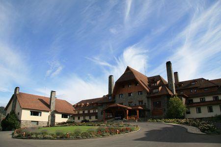bariloche: Famous Swiss style hotel in Bariloche, Patagonia, Argentina