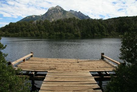 lake argentina: Lago escondido (hidden lake) on the route of the seven lakes near Bariloche, Patagonia, Argentina
