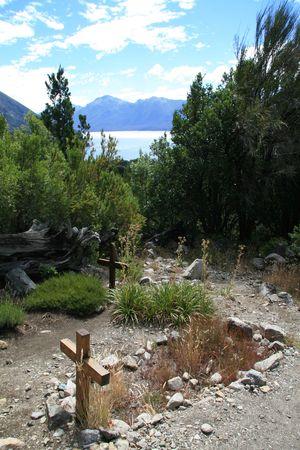 bariloche: Mountain cemetery (Cementerio del monta�es) near the Lago Moreno in the Lake Dsitrict of Patagonia, near Bariloche (Argentina)