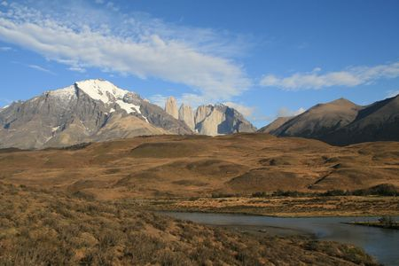 paine: Torres del Paine national park in Chilean Patagonia