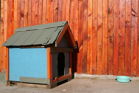 Colourful dog house in Valparaiso, Chile Stock Photo - 2786267