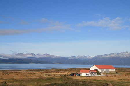 tierra: Typical house near the Beagle Channel in Ushuaia, Tierra del Fuego, Argentina
