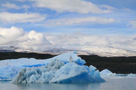 glaciares: Giant iceberg near Glaciar Upsala in Parque Nacional Los Glaciares, Patagonia, Argentina