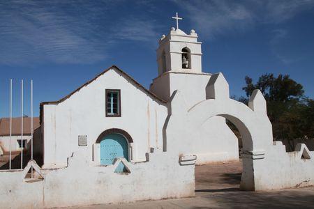 Famosa iglesia de San Pedro de Atacama en el norte de Chile Foto de archivo - 2989462