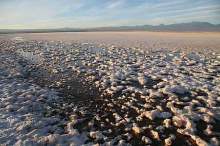salt flat: Salt flat Salar de Atacama near San Pedro de Atacama in the north of Chile
