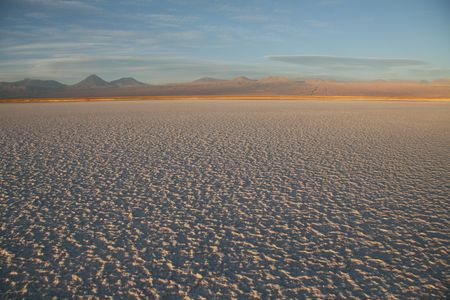 Salt flat Salar de Atacama near San Pedro de Atacama in the north of Chile