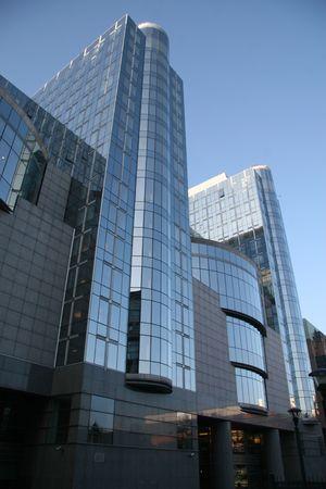 Budynek Parlamentu Europejskiego w Brukseli, Belgia Zdjęcie Seryjne - 3126300