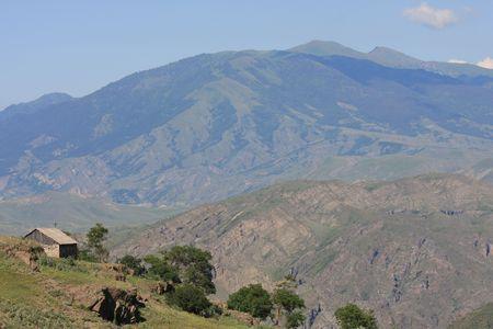 Landscape around Akhaltsikhe in the Republic of Georgia in the Caucasus. Stock Photo - 3285847