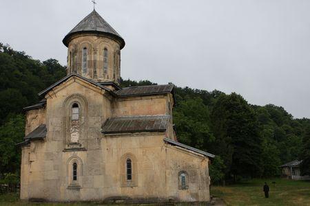 gelati: Famous church of Gelati near Kutaisi in Georgia Stock Photo
