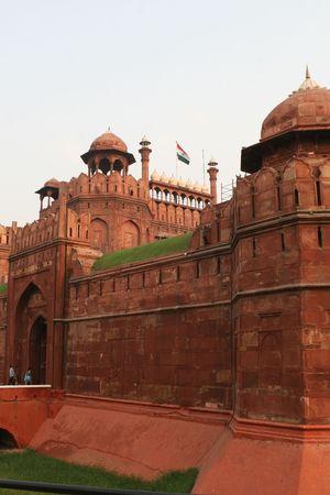 Het rode fort in Delhi, een de meest beroemde bezienswaardigheden in de Indiase hoofdstad