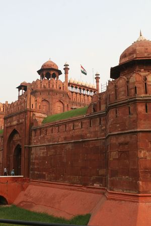 The red fort in Delhi, one the most famous landmarks in the Indian capital Stock Photo