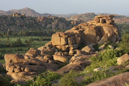 south india: Landscape around Hampi in South India