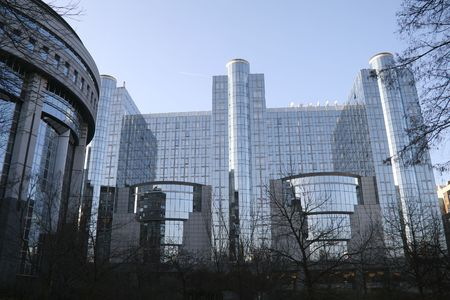 Europäischen Parlament in Brüssel  Standard-Bild - 3833911
