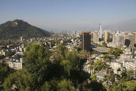 Skyline von Santiago de Chile Standard-Bild - 3925888