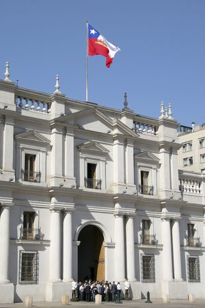 palacio: Palace of the Chilean president at the Plaza de la Moneda. Picture taken on 18 March 2008