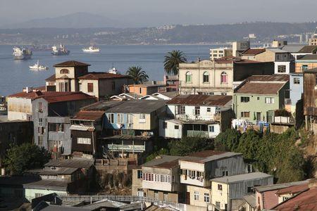 valparaiso: Aerial view on Valparaiso, Chile