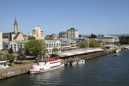 Center of Valdivia in Chile Stock Photo