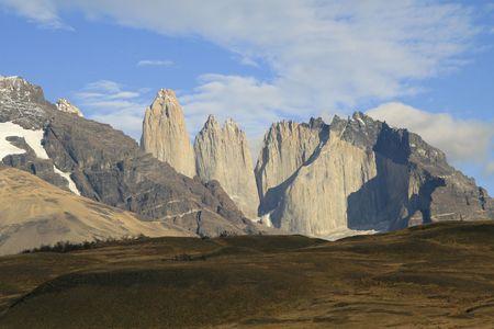 torres: Torres del Paine landscape in Chilean Patagonia Stock Photo