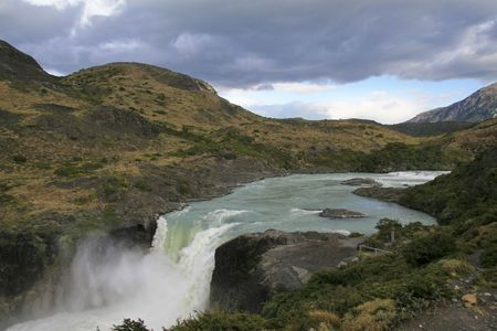 paine: Torres del Paine landscape in Chilean Patagonia Stock Photo