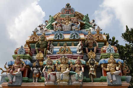 Kapaleeswarar temple in Chennai, Tamil Nadu province, India photo