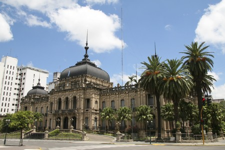 declared: Government House of Tucuman in San Miguel de Tucuman. In this Argentinian city independence was declared by the first Argentinian congress from Spain in 1816. Stock Photo