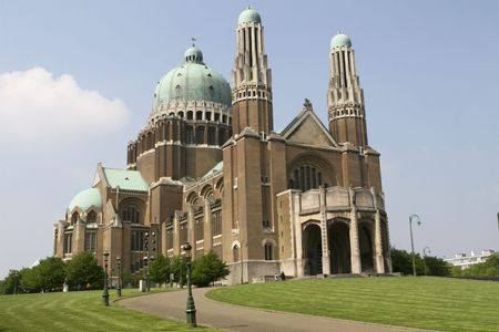 Koekelberg basilica in Brussels Stock Photo