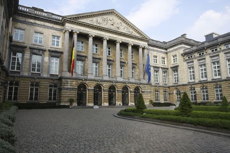 The Belgian parliament building in Brussels, Belgium Stock Photo - 4805533