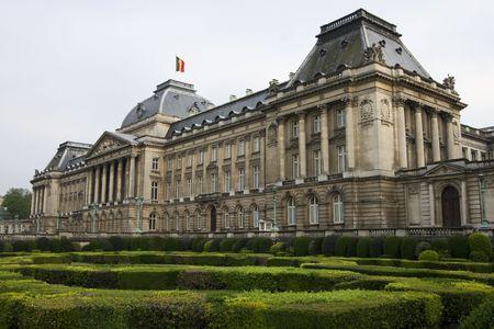 Het koninklijk paleis in het centrum van Brussel, België Stockfoto