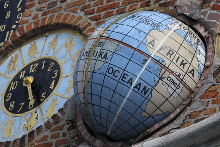 Astronomical clock of the famous  photo