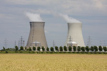 Nuclear power plant in Doel, Belgium photo