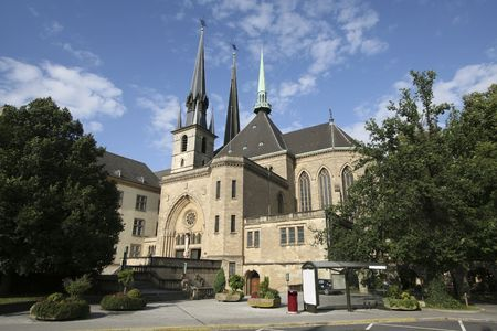 Cathedral of Luxembourg Stock Photo