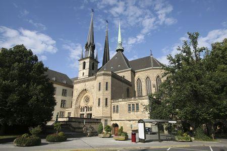 Kathedraal van Luxemburg Stockfoto