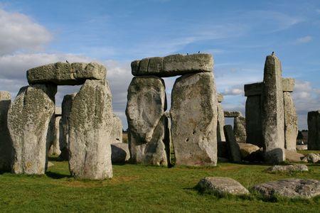 Monoliths at Stonehenge, England. photo