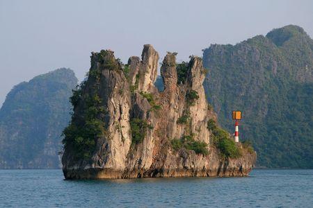 karst: Karst rock in Halong Bay, Vietnam Stock Photo