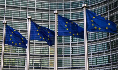 Europese vlaggen in Brussel