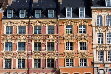 Historische Häuser an der Grand Place in Lille, Frankreich