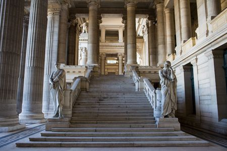 Palais de Justice (Justiz Court) in Brüssel.  Standard-Bild
