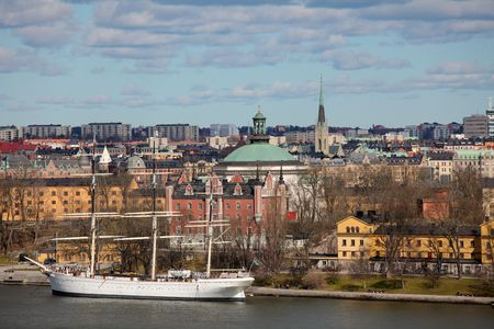 Aerial view on Stockholm, Sweden photo