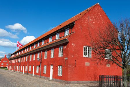 barrack: The Copenhagen Citadel (Kastellet) dates from 1624 founded by King Christian IV. Stock Photo