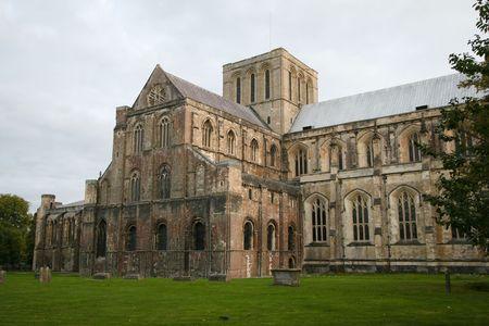 Kathedraal van Winch ester in Engeland. Stockfoto