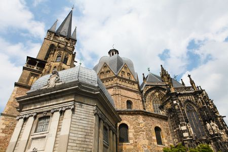 referred: Aachen Cathedral, frequently referred to as the  Stock Photo