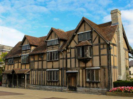 Shakespeares Geburtshaus, Stratford upon Avon. Standard-Bild