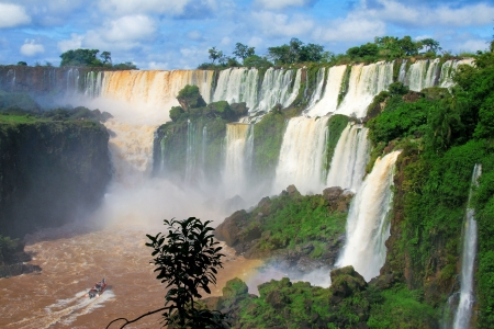 Iguazu falls in Argentina Stock Photo