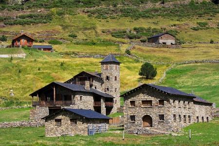 Typische Architektur in Andorra